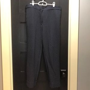 Ann Taylor Navy and White Polka Dot Pants Size 12